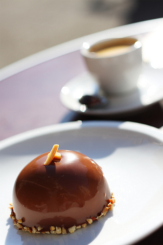 Dome Mystère chocolat caramel