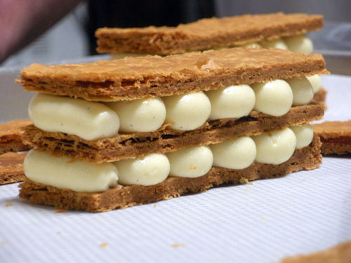 Millefeuille marrons et caramel beurre salé