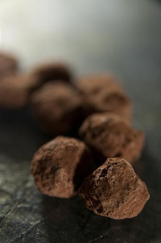 Truffes caramel beurre sale et chocolat